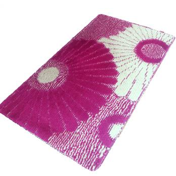 Коврик 55x90 см классик колор цветы бордо розовый
