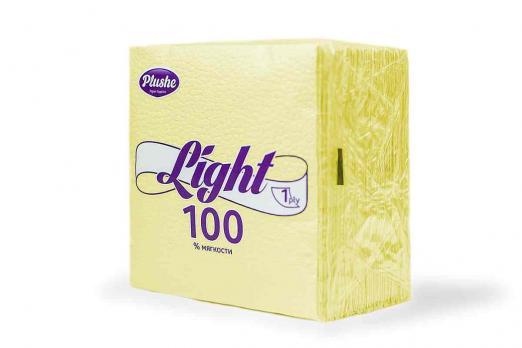 Салфетки Plushe Light желтые (90 шт.)
