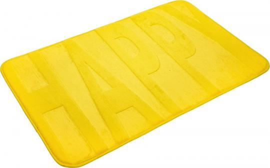 Коврик 45x75 см микрофибра с памятью формы Happy 24121 желтый