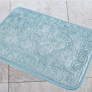 Коврик 40x60 см Aqua-prime foot бирюзовый