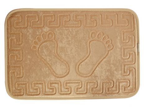 Коврик 40x60 см Aqua-prime foot коричневый