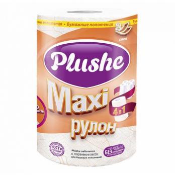 Полотенца бумажные Plushe Макси двухслойные 40 м (1 шт.)