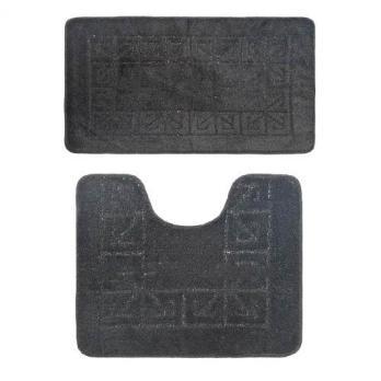 Комплект ковриков 50x80 см Banyolin classic черный (2 шт.)