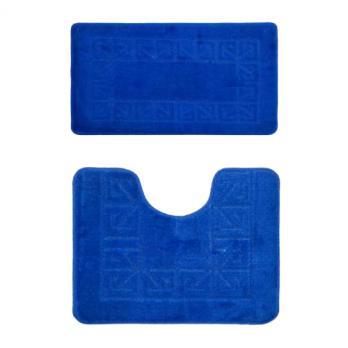 Комплект ковриков 60x100 см Banyolin classic синий (2 шт.)