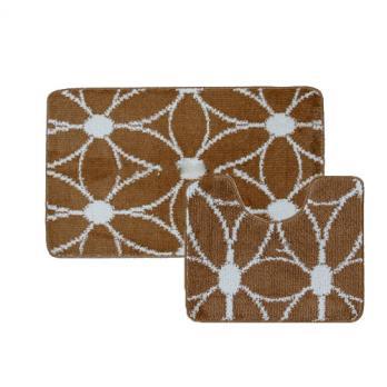 Комплект ковриков 60x100 см Banyolin classic color коричневый(2 шт.)