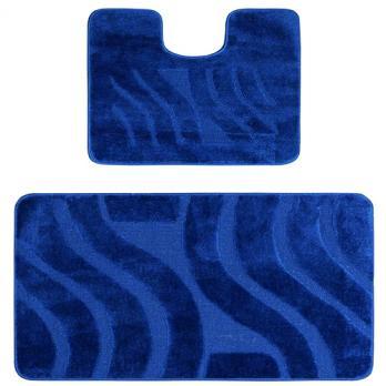 Комплект ковриков 60x100 см Confetti maximus синий (2 шт.)