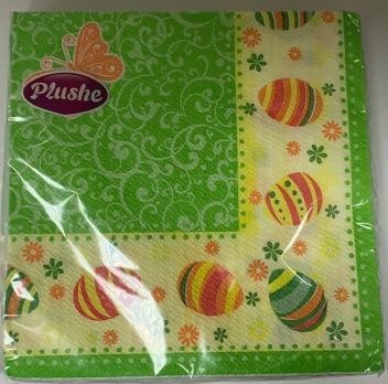 Салфетки Plushe 2 слоя пасха бабочка (15 шт.)