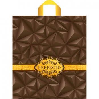 Пакет с петлевой ручкой ПВД 42x46 см Перфекто Милк шоколад (1 шт.)