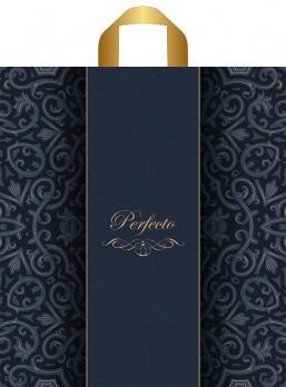 Пакет с петлевой ручкой ПВД 42x46 см Перфекто Паттерн 95 мкм сиренево-синий (1 шт.)