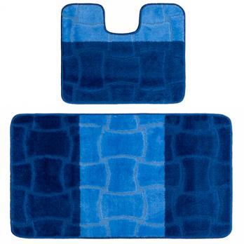 Комплект ковриков 50x80 см Confetti multicolor темно синий (2 шт.)