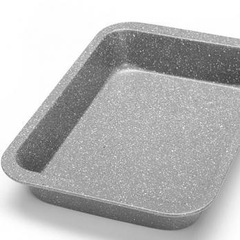 Противень для запекания 36x27x5 см углеродистая сталь антипригарное мраморное покрытие MB26483
