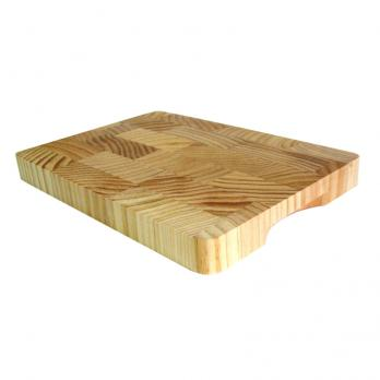 Доска разделочная деревянная 400x300x30 мм гевея
