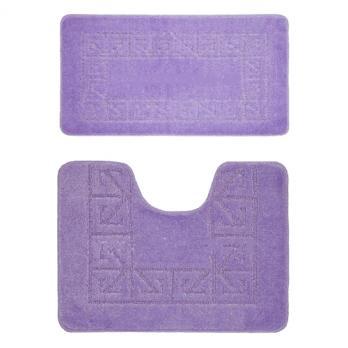 Комплект ковриков 55x90 см Banyolin classic фиолетовый (2 шт.)