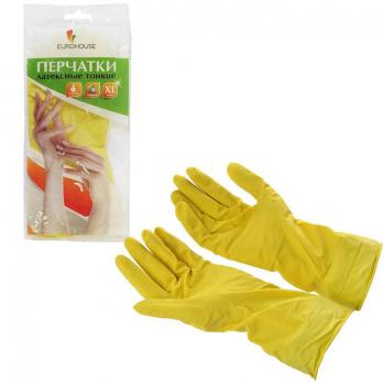 Перчатки резиновые ЕвроХаус L (1 пара)