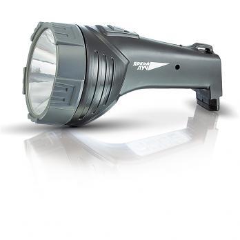 Фонарь светодиодный аккумуляторный Яркий луч LA-108 2 режима черный (вилка для зарядки от 220В)