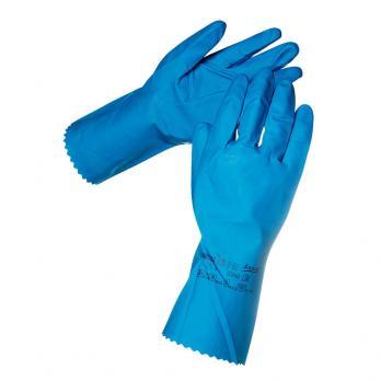Перчатки латексные Ансел щелочностойкие (1 пара)