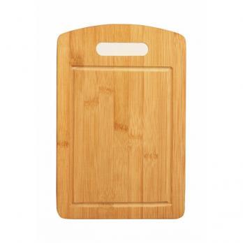 Доска разделочная деревянная 300x200x10 мм с канавкой