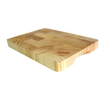 Доска разделочная деревянная 350x260x30 мм гевея