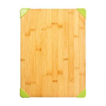 Доска разделочная деревянная 380x280x16 мм бамбук