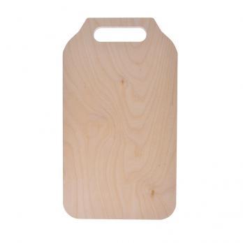 Доска разделочная деревянная 370x210x6 мм береза