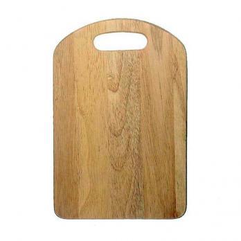 Доска разделочная деревянная 305x205x10 мм с ручкой бамбук