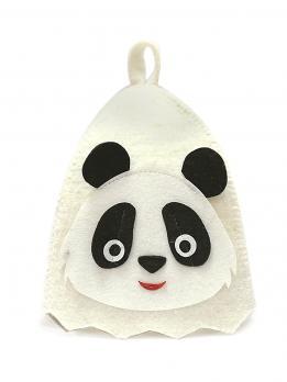 Шапка банная детская Панда аппликация