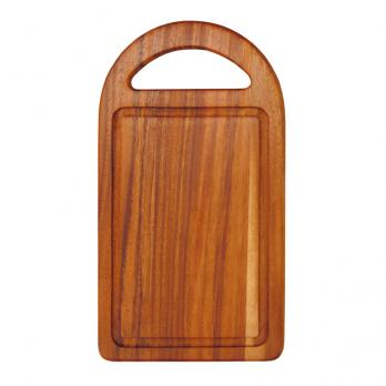 Доска разделочная деревянная 350x195x15 мм акация