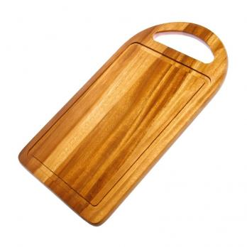 Доска разделочная деревянная 305x230x15 мм акация