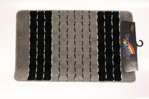 Коврик 50x80 см Banyolin silver черный