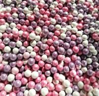 Посыпка для кулича шарики сахарные Жемчуг розовый/белый 3 мм 30 г