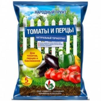 Почвогрунт Народный для томатов и перцев (5 л)