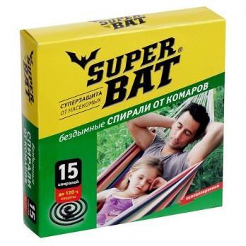 Спирали от комаров Супер Бат бездымные