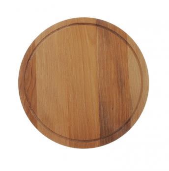 Доска разделочная деревянная d=250 мм бук