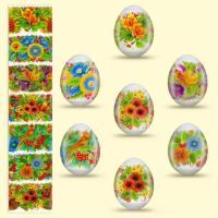 Пленка пасхальная термоусадочная для яиц (рукав) в ассортименте (7 шт.)