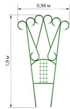 Шпалера Комбинированная (h=2,0 м b=0,9 м) стальная труба 10 мм