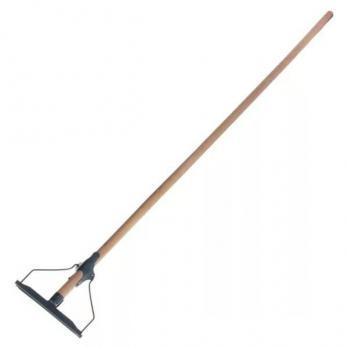 Швабра тряпкодержатель с деревянной ручкой 120 мм