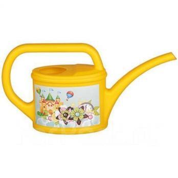 Лейка 0,4 л детская декоративная желтая