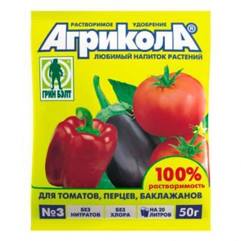 Удобрение Агрикола томат, перец, баклажан (50 г)