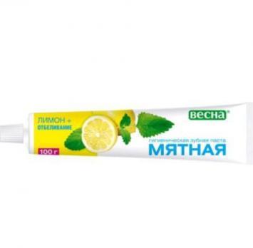 Зубная паста Мятная лимон отбеливающая (100 г)