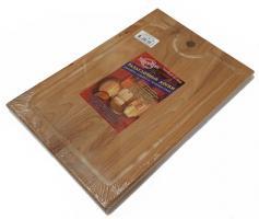 Доска разделочная деревянная 350x250x18 мм с канавкой бук