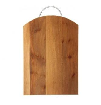 Доска разделочная деревянная 350x245x18 мм со скобой бук