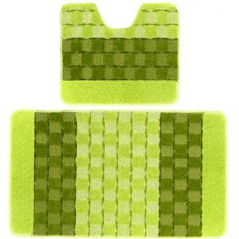 Комплект ковриков 60x100 см Banyolin silver зеленый (2 шт.)