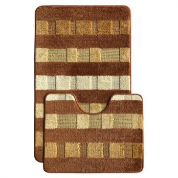 Комплект ковриков 50x80 см L'Cadesi Marathon коричневый (2 шт.)