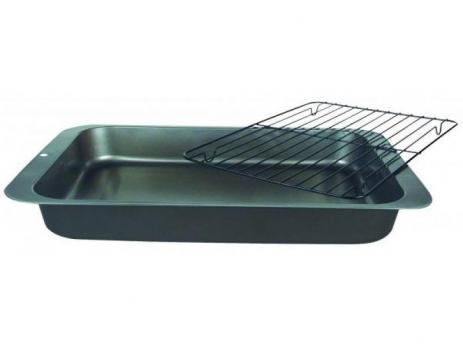 Противень для запекания 36x27x4,5 см углеродистая сталь антипригарное покрытие с решеткой-гриль Easy