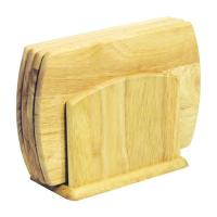 Доска деревянная набор для завтрака овальная (5 шт.)