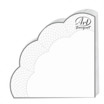 Салфетки Рондо 3 слоя d=32 см белые (12 шт.)