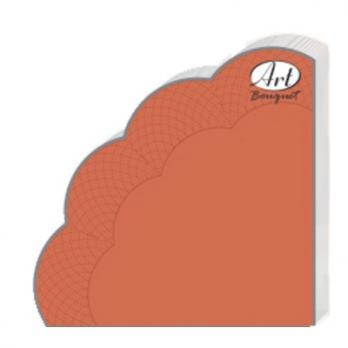 Салфетки Рондо 3 слоя d=32 см терракота (12 шт.)