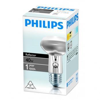 Лампа накаливания E27 Philips R63 40W