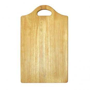 Доска разделочная деревянная 330x200x10 мм с ручкой бамбук