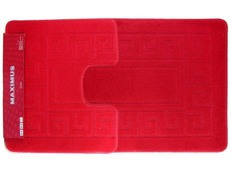 Комплект ковриков 60x100 см Confetti maximus красный (2 шт.)